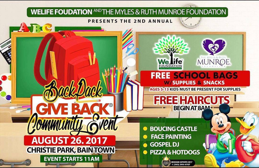 THE MYLES & RUTH MUNROE FOUNDATION BACK TO SCHOOL GIVEBACK