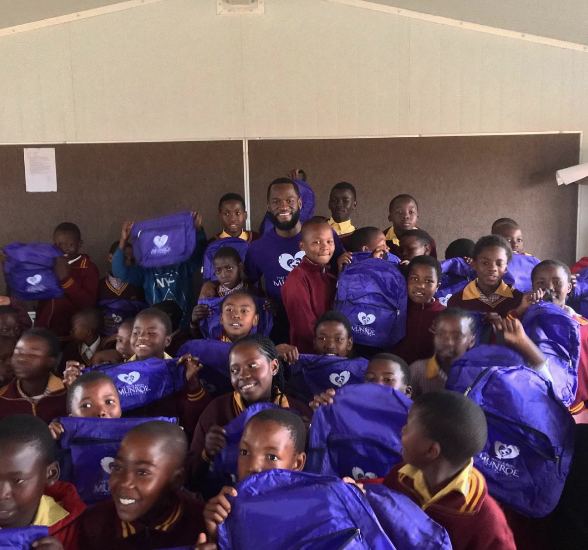 THE FOUNDATION GIVES SCHOOLS SUPPLIES & A DONATION TO TWO SCHOOLS IN JOHANNESBURG, SOUTH AFRICA